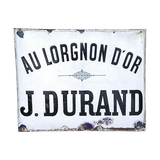 Large Antique French Porcelain & Enamel Sign - Image 4 of 4