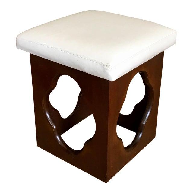 Modernist Probber Style Walnut Wood Stool - Image 1 of 3