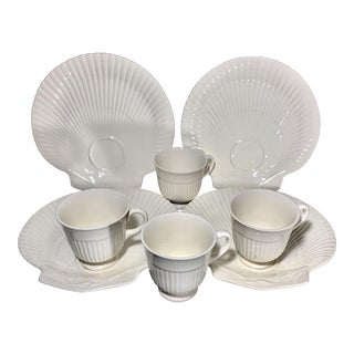 1950s Wedgwood Shell Themed Tennis/Snack Service, 4 Settings For Sale