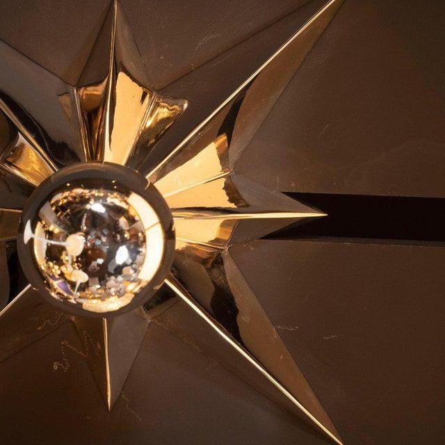Mid-Century Modern Polished Nickel Star Flush Mounts - Set of 4 For Sale - Image 9 of 10