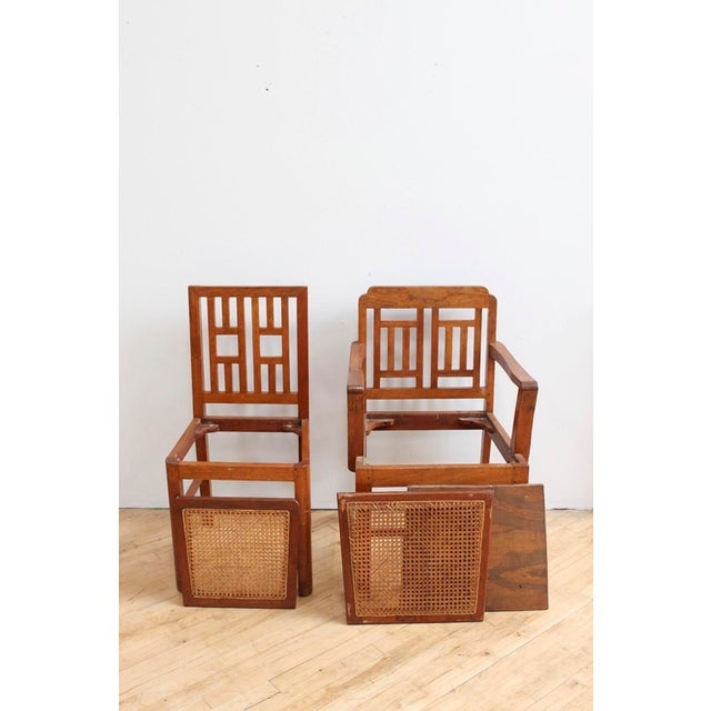 Antique Arts & Crafts Chairs- Hand Caned Craftsman Oak - Image 4 of 11