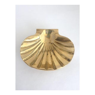 Brass Scallop Shell Ashtray