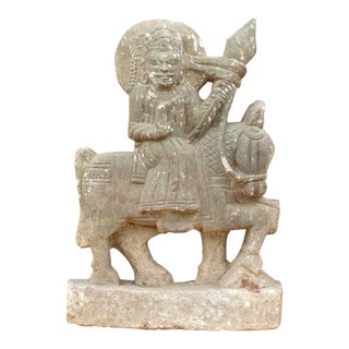 19th Century Ramdevra Stone Statue For Sale