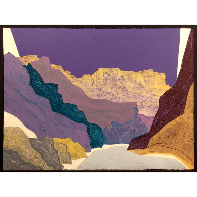 "Clare Romano ""Silver Canyon"" Hand Signed Limited Edition Print For Sale In Denver - Image 6 of 6"