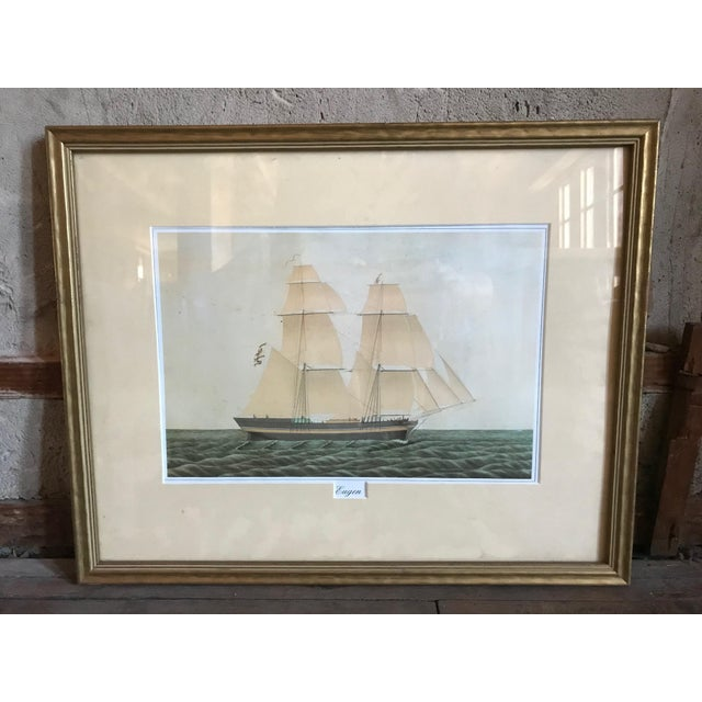 Eugen Boat at Sea Painting For Sale - Image 4 of 4