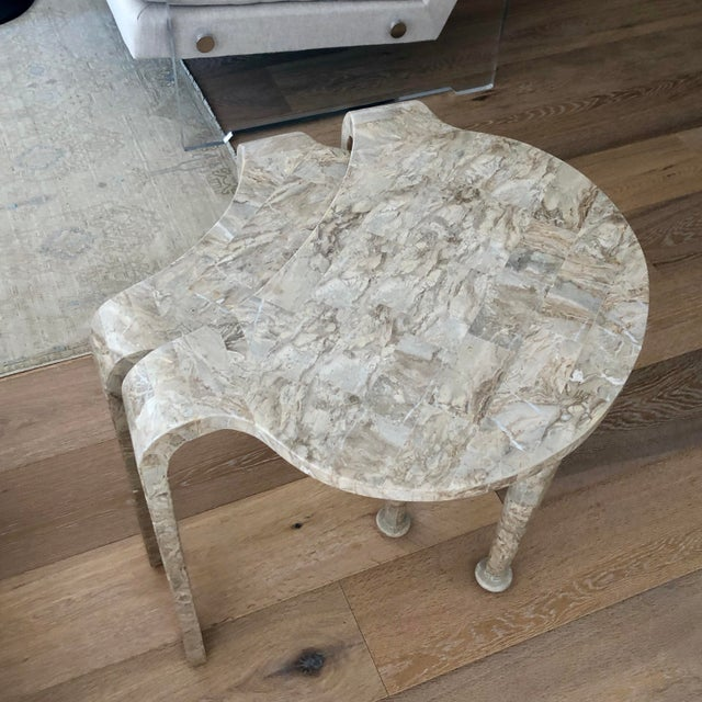 Tessellated Fossil Stone Nesting Tables - Set of 2 For Sale - Image 10 of 13
