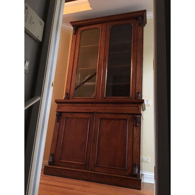 19th Century Traditional Mahogany Bookcase or China Cabinet For Sale - Image 11 of 11