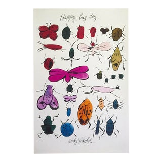 "Andy Warhol Foundation Pop Art Lithograph Print "" Happy Bug Day "" 1954 For Sale"