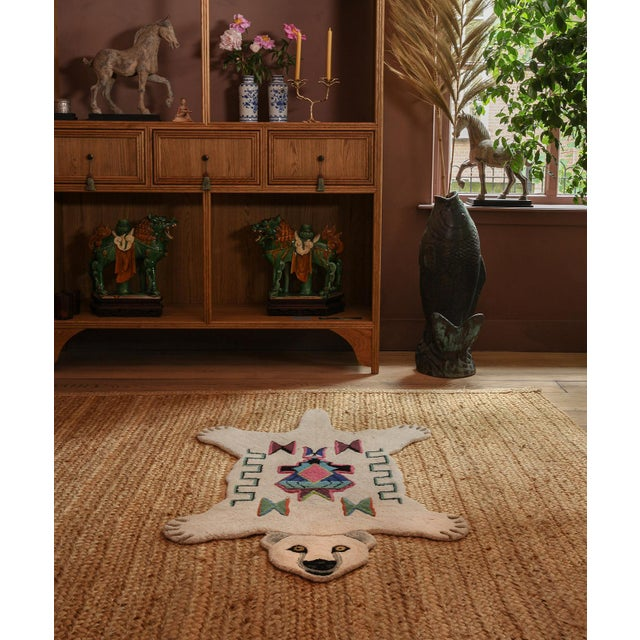 Not Yet Made - Made To Order Doing Goods Kasbah Polar Bear Rug Large For Sale - Image 5 of 6