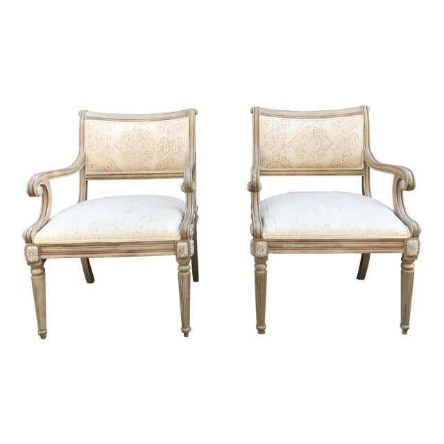 Kreiss Collection Upholstered Chairs - A Pair For Sale