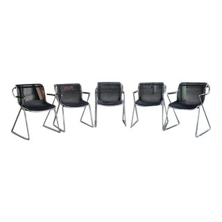 Charles Pollock Penelope Chairs - Set of 5 For Sale