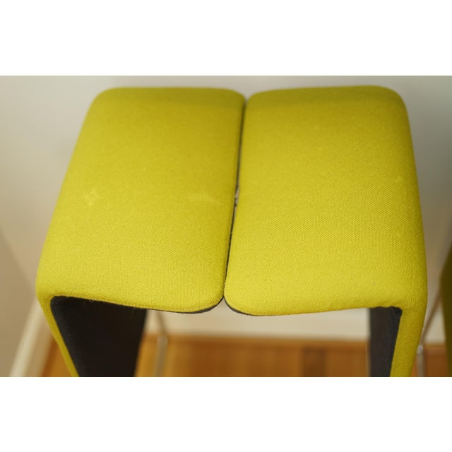2000 - 2009 B&b Italia 'Pyllon' Stool by Nicole Aebischer in Chartreuse- A Pair For Sale - Image 5 of 12
