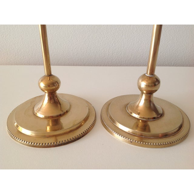 Brass Foundry Candle Holders - a Pair - Image 5 of 7