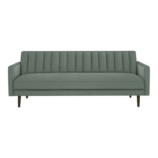 "Room & Board ""Goodwin"" Mint Green Velvet Sofa For Sale"