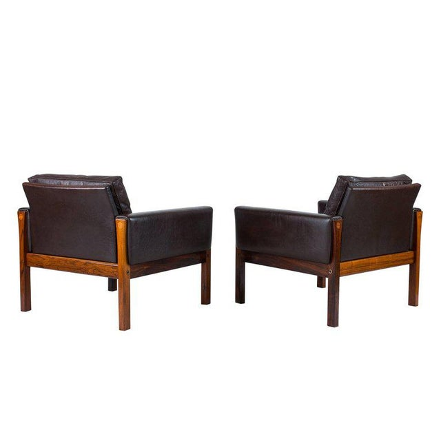 Pair of Hans Wegner AP 62 Lounge Chairs For Sale In Los Angeles - Image 6 of 10