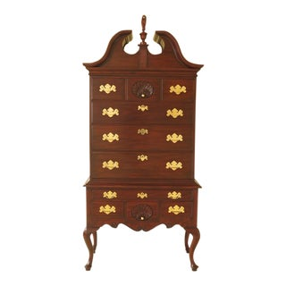 Henkel Harris 3 Part Philadelphia Mahogany Highboy For Sale