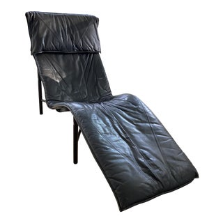 1970s Vintage Tord Bjorklund Black Leather Skye Lounge Chair For Sale