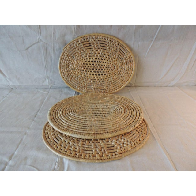 Set of (6) Oval Woven Abaca Placemats For Sale - Image 9 of 9