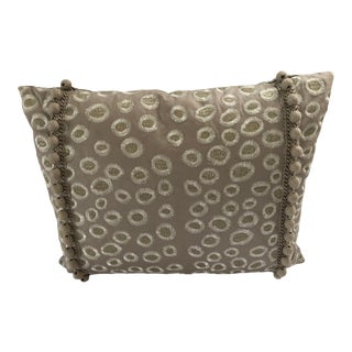 """Jab Taupe & Gold Goose Down Insert Pillow 17.5"""" X 14.5"""" For Sale"""