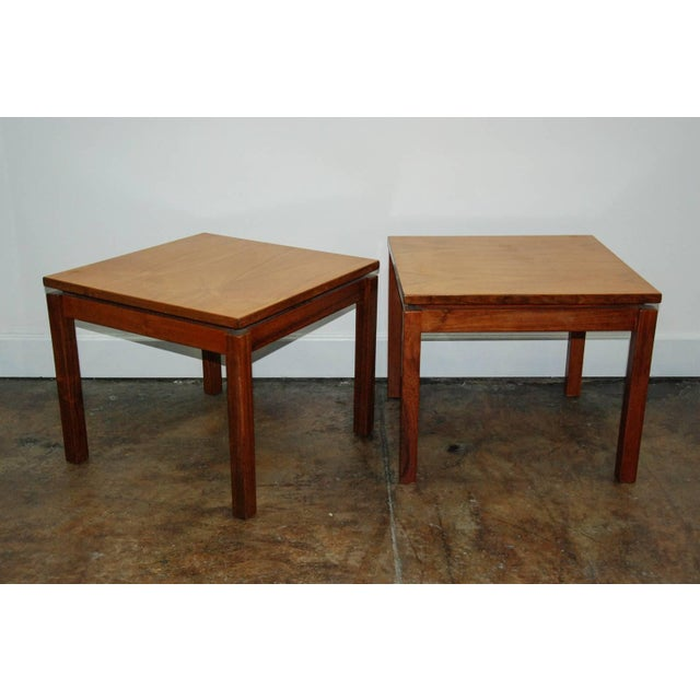 1970s 1970s Brazilian Jacaranda Wood Square Side Tables - a Pair For Sale - Image 5 of 8