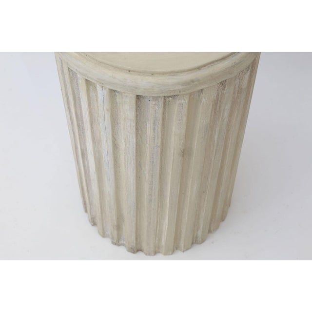 Neoclassical Two Painted Pedestal Tables For Sale - Image 3 of 12