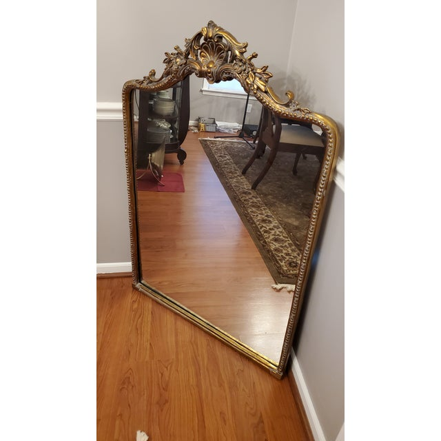 Ballard Designs Ornate Vintage Mirror Model 40017 A beautifully handmade antiqued cast iron & steel framed vintage mirror...