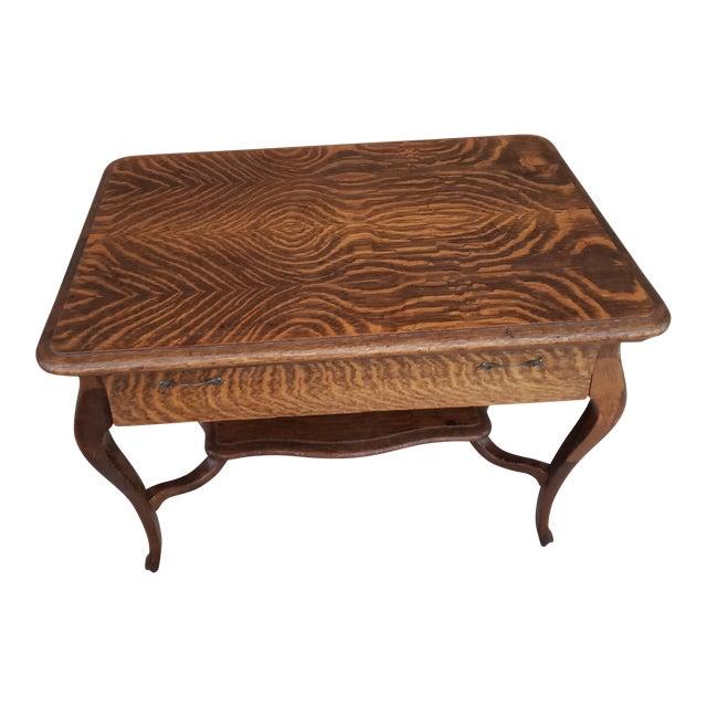 Strange Antique American Quartersawn Tiger Oak Library Table Download Free Architecture Designs Oxytwazosbritishbridgeorg