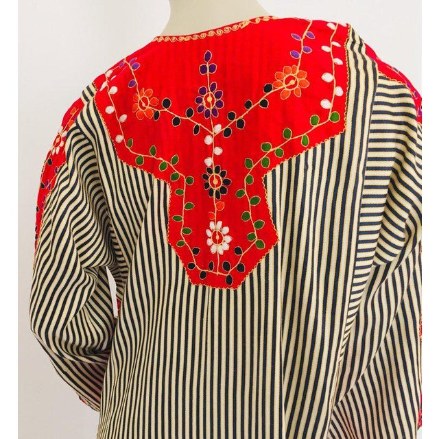 Moroccan Artist Vintage Middle Eastern Ethnic Caftan, Kaftan Maxi Dress For Sale - Image 4 of 13