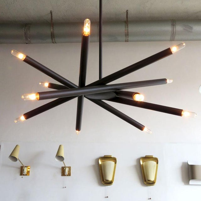Brass Gallery L7 Spiral Orb Chandelier For Sale - Image 7 of 11