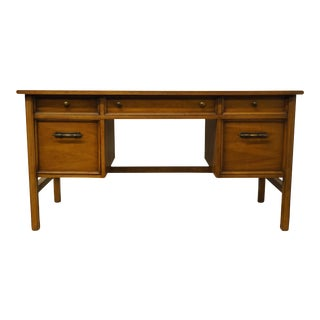 "Late 20th Century Drexel Heritage Pan Tempo Collection 56"" Writing Desk For Sale"