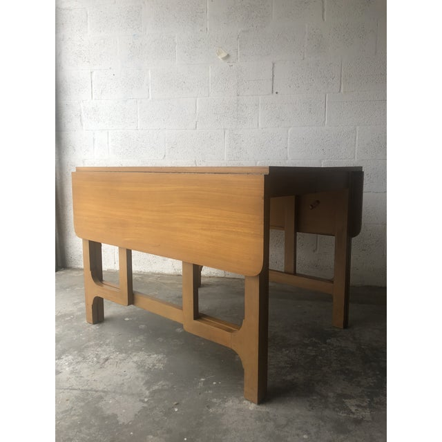 Vintage Mid Century Modern Expandable Drop-Leaf Dining Table Designed by Edward Wormley for Precedent Drexel Furniture....