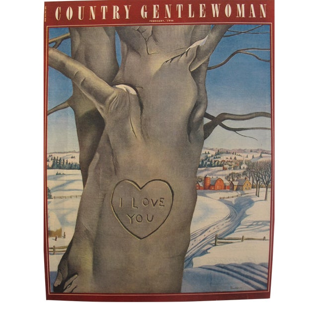 1946 Country Gentlewoman February Valentine's Day Edition, Original Magazine Cover For Sale