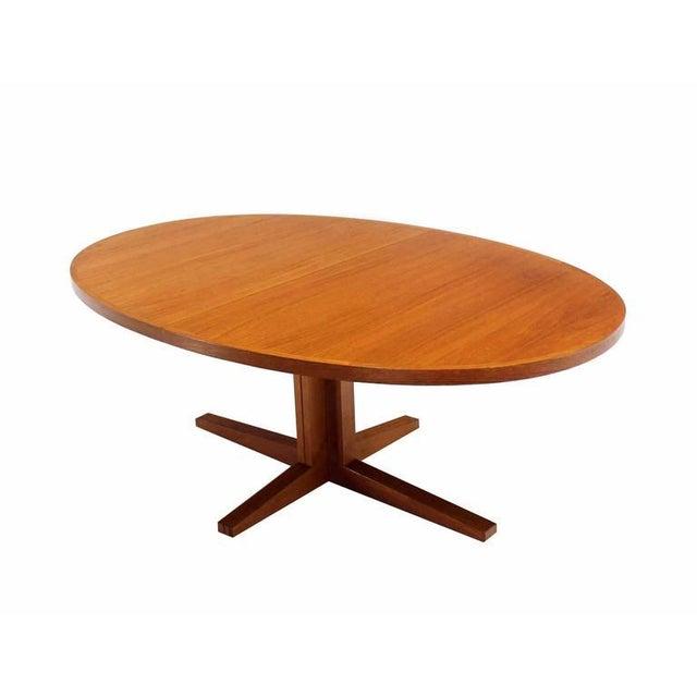 Exquisite Danish Mid Century Modern Teak Dining Table With Two - Danish modern dining table with leaves