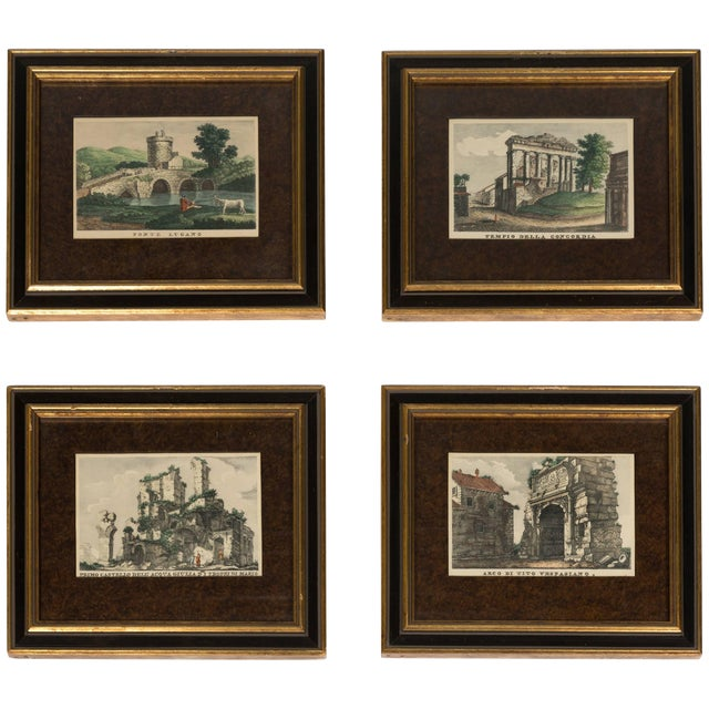 Four 18th Century Classical Prints of Rome For Sale