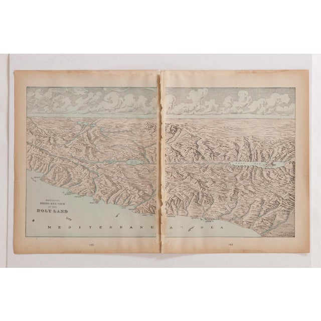1900 - 1909 Cram's 1907 Map of Holy Land For Sale - Image 5 of 9
