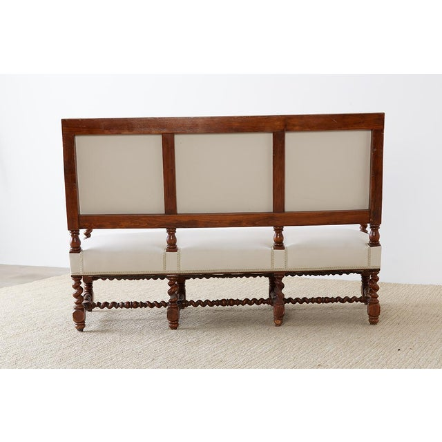 19th Century English Barley Twist Sofa Settee For Sale - Image 12 of 13