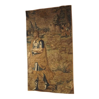 17th Century Flemish Tapestry Fragment For Sale