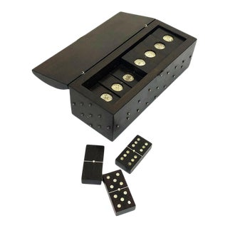 Silver and Ebony William Spratling Dominoes Set - 29 Pieces For Sale