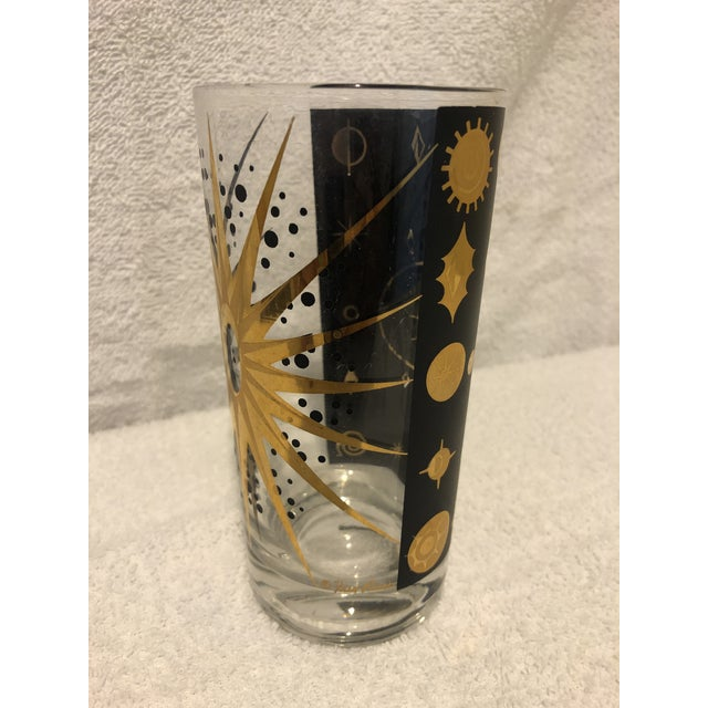 Fred Press Fred Press Atomic Starburst/Eclipse Pattern Highball Glass For Sale - Image 4 of 7