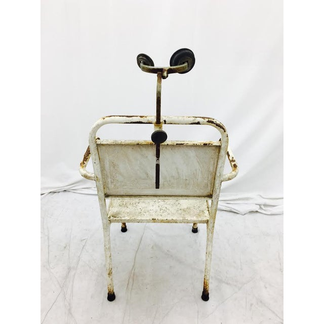 Metal Vintage Medical Chair For Sale - Image 7 of 7