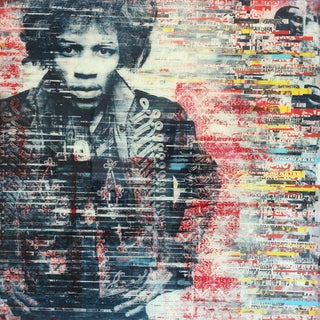 """""""Jimi The Superstar"""" Original Mixed Media Artwork by Ashleigh Sumner For Sale"""