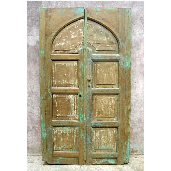 Pair of Antique 19th Century Painted Portons - Large Doors - Image 2 of 9