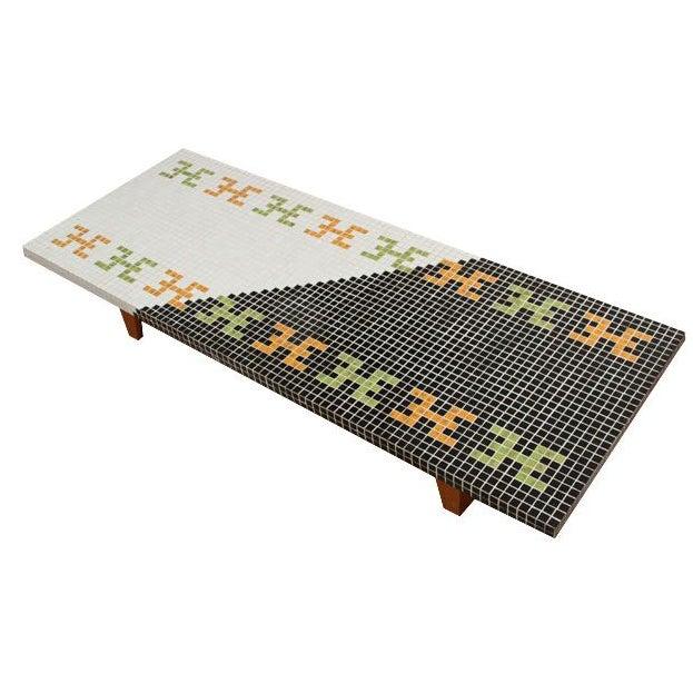 Huge Mid-Century Tile Mosaic Coffee Table - Image 1 of 5