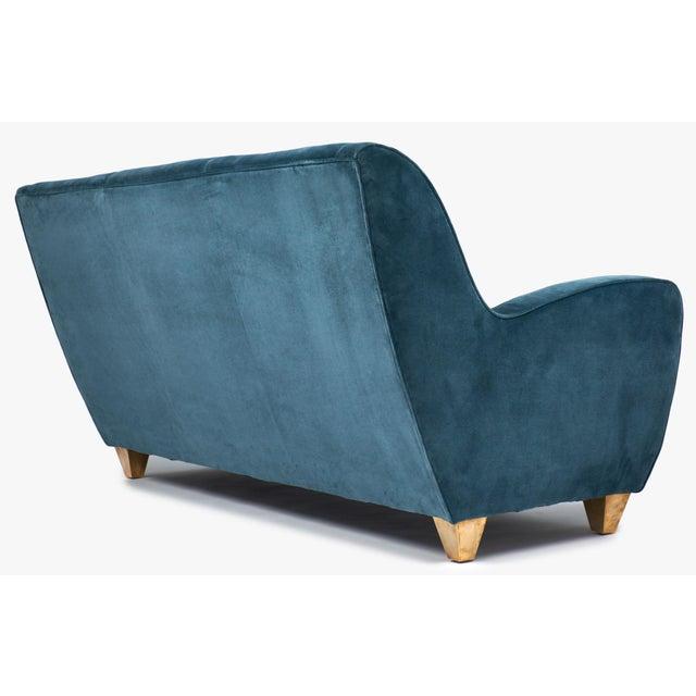 Mid-Century Italian Poltrona Frau Velvet Sofa For Sale - Image 5 of 10