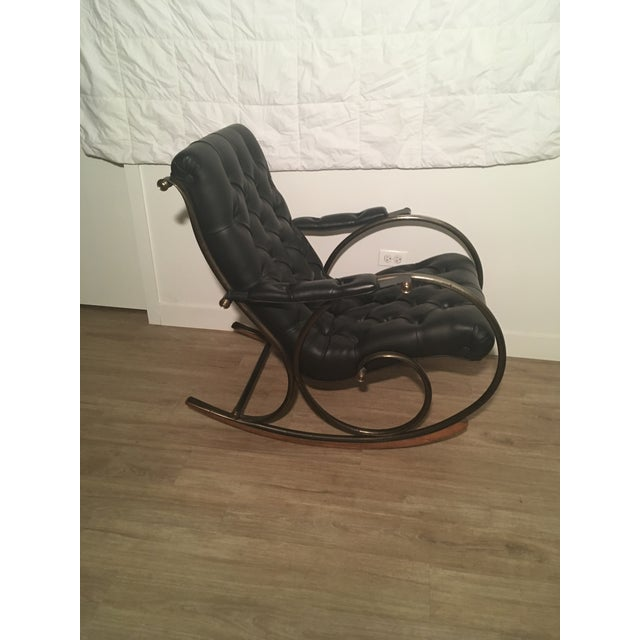 Mid-Century Modern Lee L. Woodard Rocking Chair For Sale - Image 3 of 11