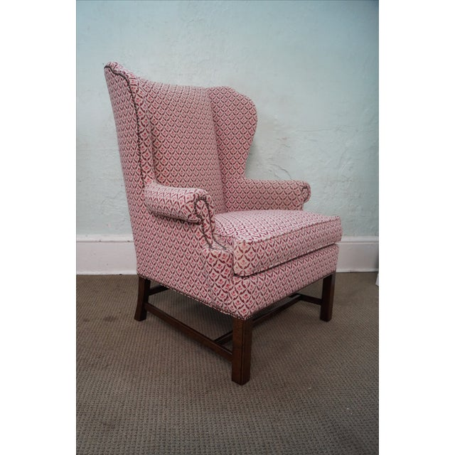 Baker Chippendale Style Wing Chairs - A Pair - Image 9 of 10