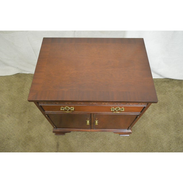 Baker Chippendale Style Mahogany Nightstand - Image 7 of 11
