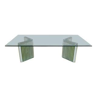 1950s Art Deco Italian Glass Arrangeable-Base Coffee Table