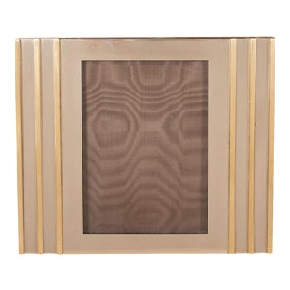 Vintage Brass and Nickel Mixed Metal Picture Frame For Sale