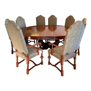 Jacobean Table + Eight Chairs Set For Sale